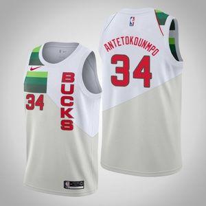 Bucks #34 Giannis Antetokounmpo Jersey